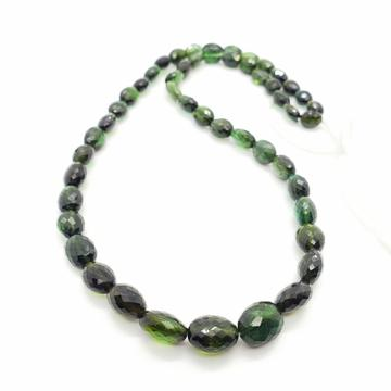 Chrome / Indicolite (Green) Tourmaline Faceted Oval 6x8 - 9x11mm Beads
