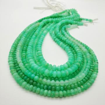 Chrysoprase (Mint) Smooth Roundel 5-7mm