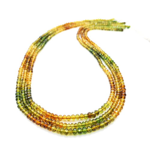 Autumn Tourmaline Faceted Roundel Beads