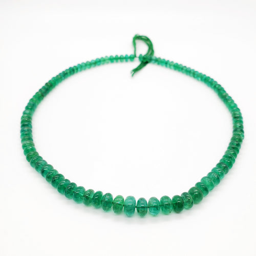 Emerald Smooth Roundel Beads 6-8mm