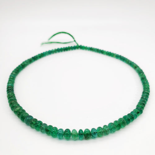 Emerald Smooth Roundel Beads 6mm
