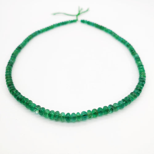 Emerald Smooth Roundel Beads 5.00-5.50mm