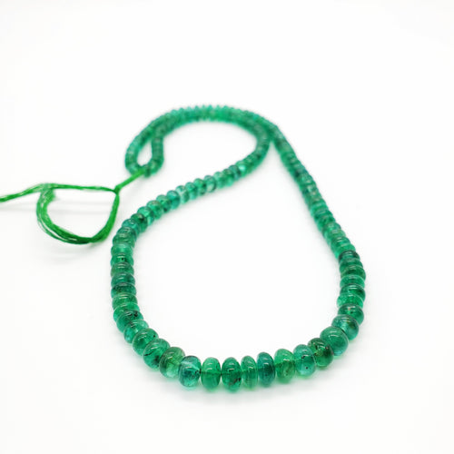 Emerald Smooth Roundel Beads 4.50-5.70mm