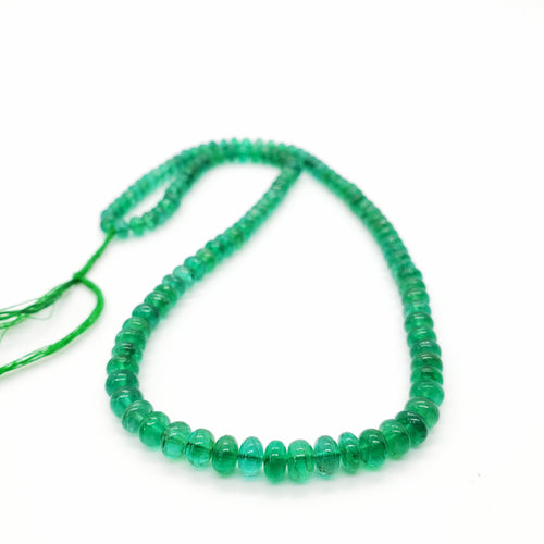 Emerald Smooth Roundel Beads 5.00-5.80mm