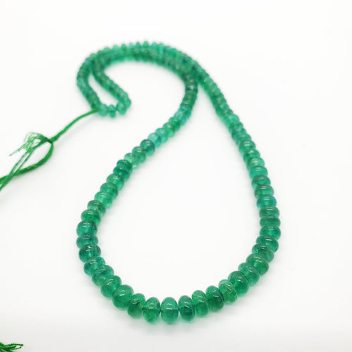 Emerald Smooth Roundel Beads 4.90-5.70mm