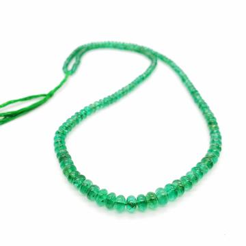 Emerald Smooth Roundel Beads 3.10-5.20mm