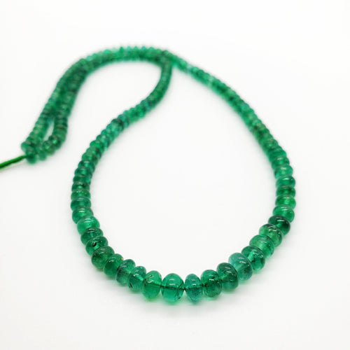 Emerald Smooth Roundel Beads 4.30-5.60mm