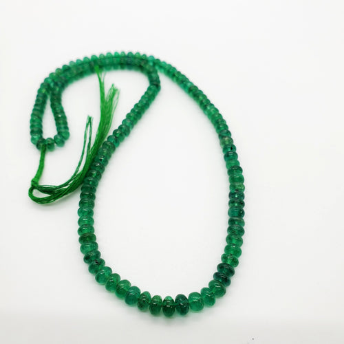 Emerald Smooth Roundel Beads 4.60-5.50mm