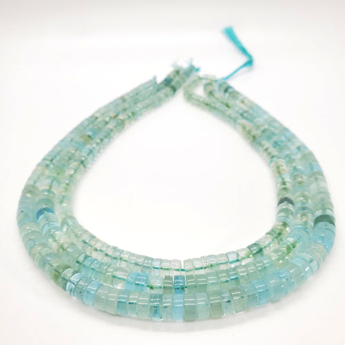 Aquamarine Smooth Tire Shape Beads