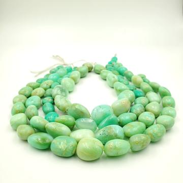 Chrysoprase (Brazil) Smooth Nugget / Pebble Shape Beads 11-19mm