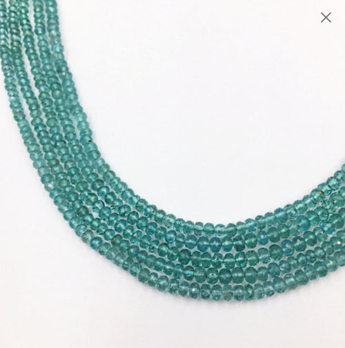 "Apatite Faceted Round Beads 16""  (Multiple sizes)"