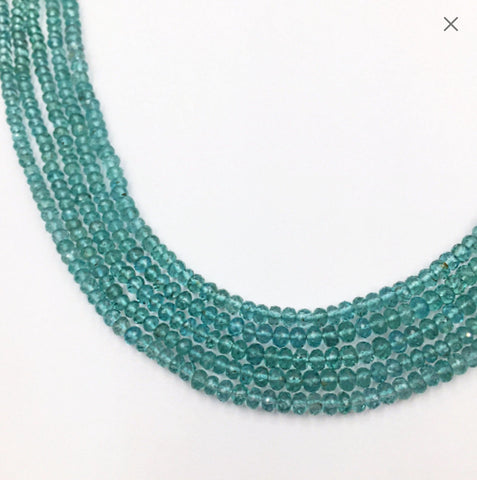 Turquoise (Reconstituted) Faceted Checker Beads (MULTIPLE SIZES)