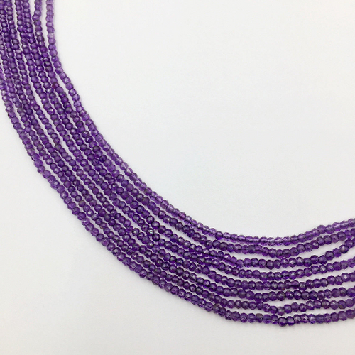 Amethyst Faceted Roundle Beads