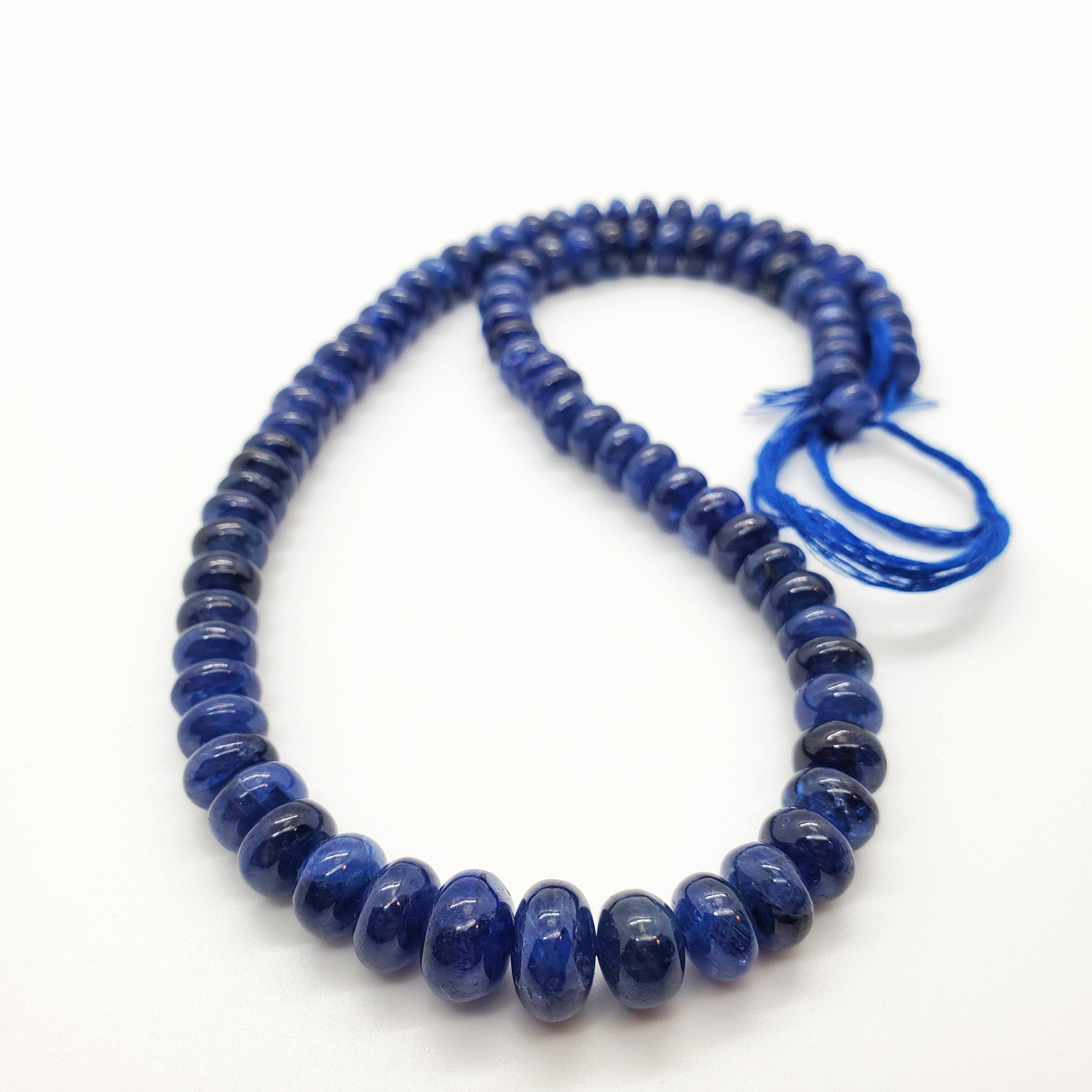Blue Sapphire Smooth Roundel 7-10mm