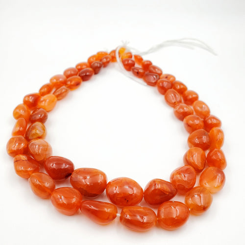 Carnelian Smooth Nugget / Pebble Shape Beads 11-15mm