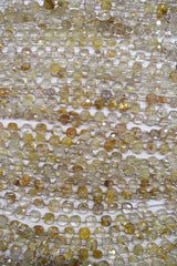 Rhutilated Quartz Faceted Checker (MULTIPLE SIZES)