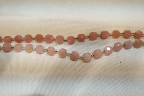 Pink Opal Faceted Checker
