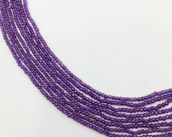Amethyst Faceted Roundel Beads (MULTIPLE SIZES)