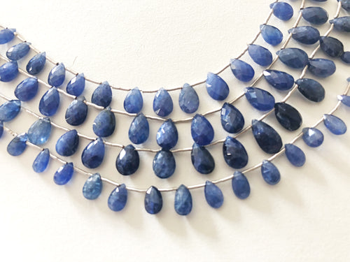 Sapphire Faceted Tear Drop Briolettes (MULTIPLE SIZES)