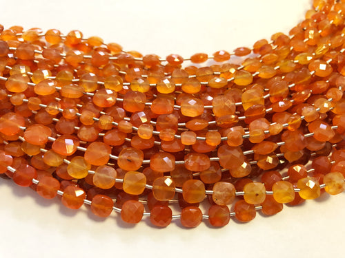 Carnelian Faceted Checker (MULTIPLE SIZES)