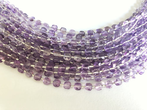 Amethyst 4MM  Faceted Checker (MULTIPLE SIZES)