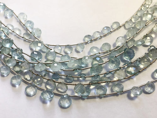 Aquamarine Faceted HEART SHAPE (MULTIPLE SIZES)