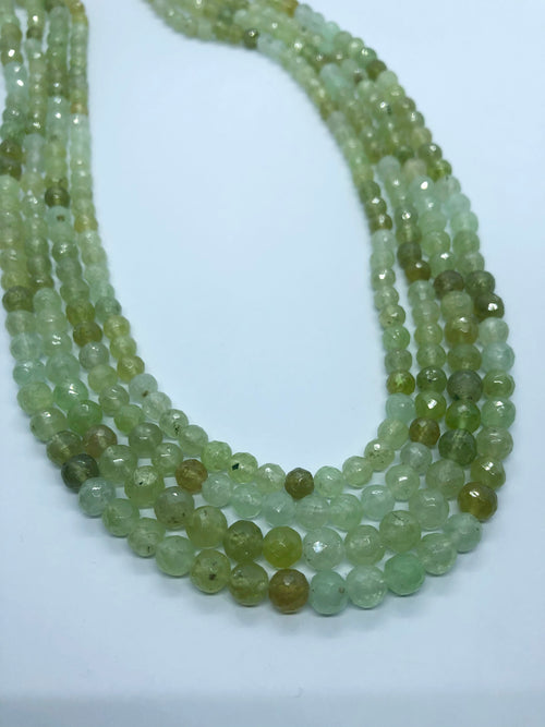 Green Garnet Facated Round shape beads6MM