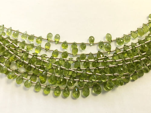 Peridot Faceted Round Bottom Briolettes (MULTIPLE SIZES)