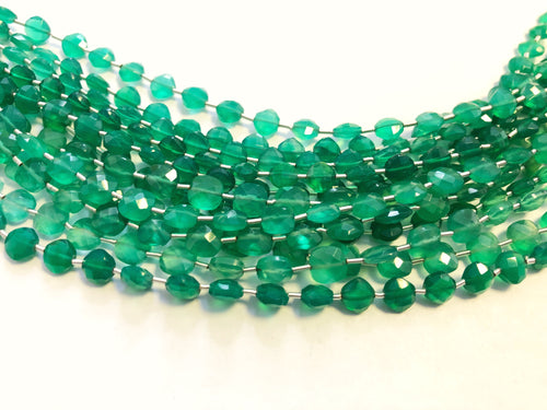 Green Onyx Faceted Checker