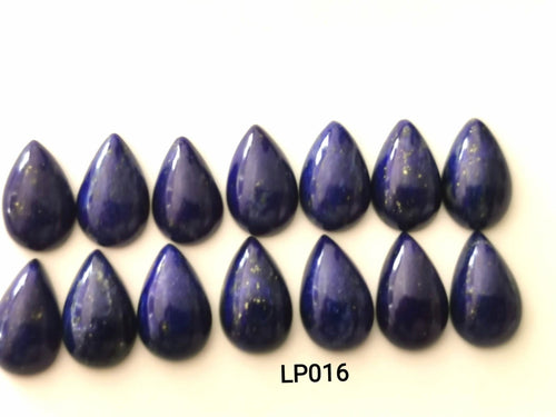 Lapis Lazuli Smooth Pear Cabochons LP016