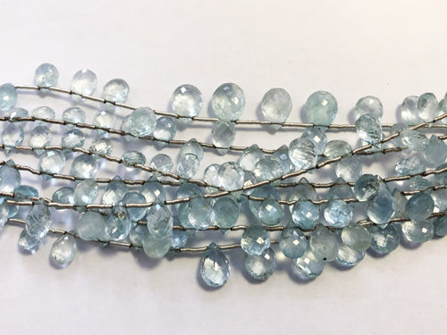Aquamarine Faceted Tear Drop (MULTIPLE SIZES)