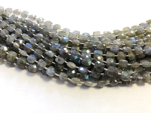 Labradorite Faceted Checker (MULTIPLE SIZES)