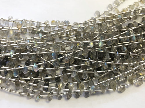 Labradorite Faceted Round Bottom Briolettes (MULTIPLE SIZES)