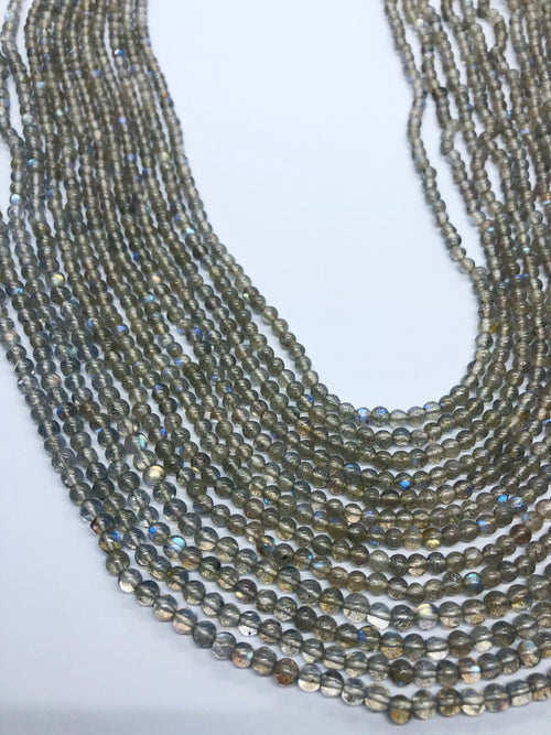 Labradorite Smooth Round shape beads 3-4 MM