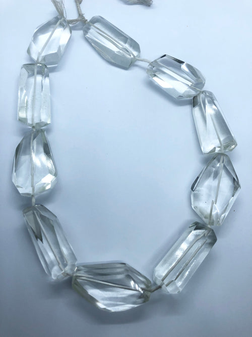Clear Quartz faceted nugget shape beads