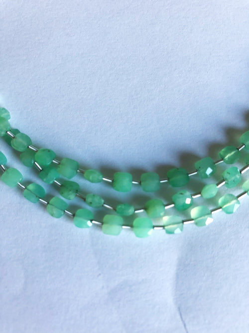 Chrysoprase 4MM  Faceted Checker (MULTIPLE SIZES)