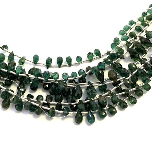 Green Apetite Faceted Round Bottom Briolettes (MULTIPLE SIZES)