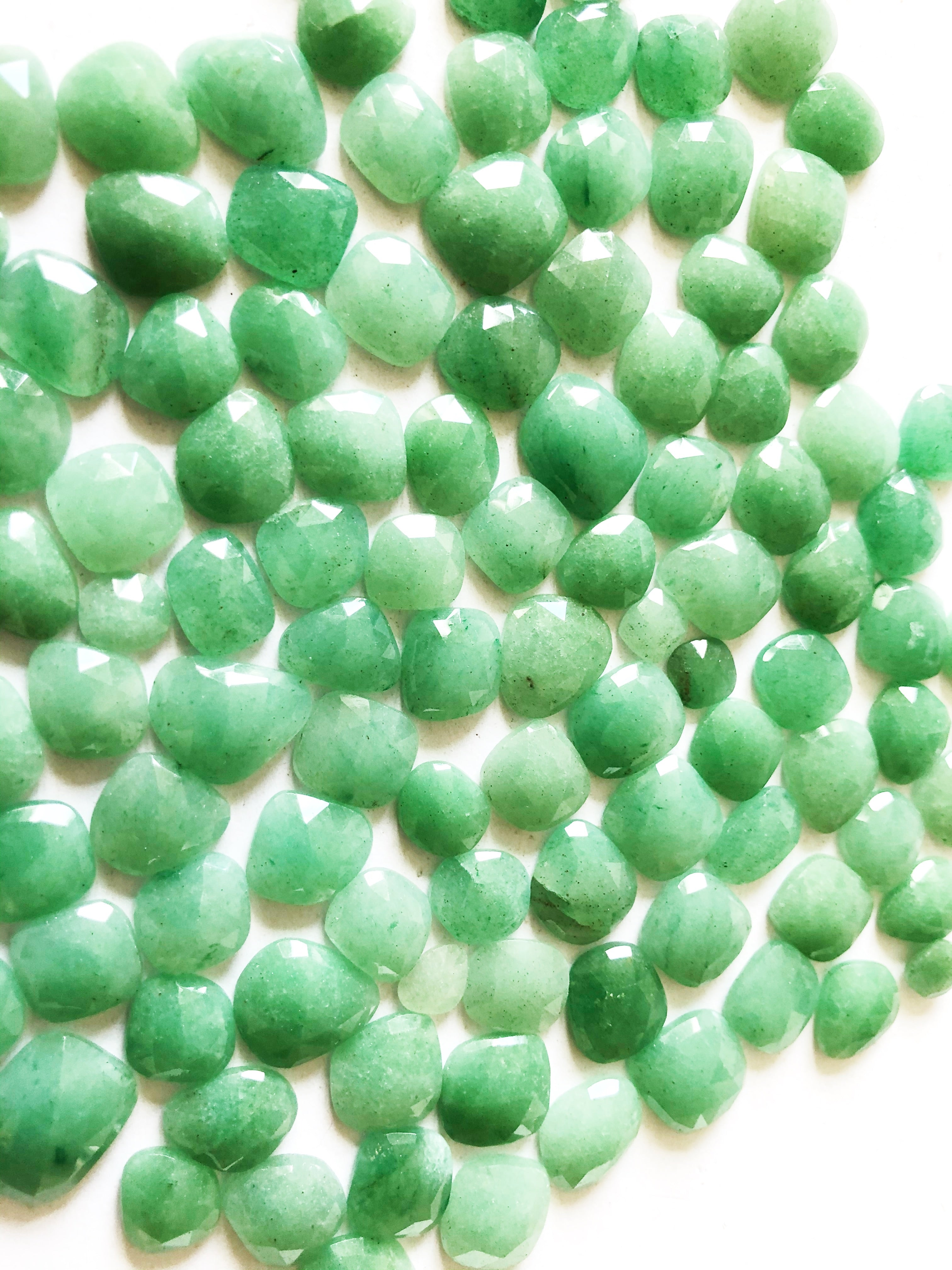 Aventurine Organic Shape Rose Cuts Mix 6-10MM