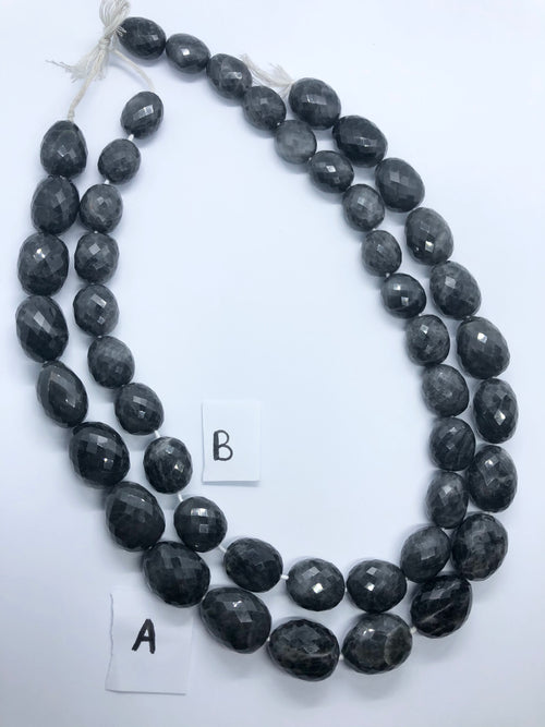 Grey Quartz faceted nugget shape beads