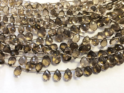 Smokey Quartz Faceted Tear Drop (MULTIPLE SIZES)