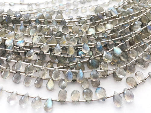 Labradorite Faceted Tear Drop (MULTIPLE SIZES)