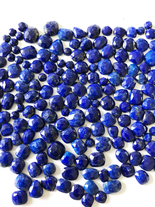 Lapis Organic Shape Rose Cuts Mix 6-8MM