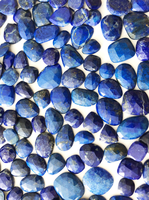 Lapis Organic Shape Rose Cuts Mix 10-14MM