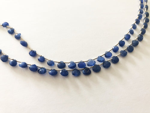 Sapphire Faceted Heart Shape Briolettes (MULTIPLE SIZES)