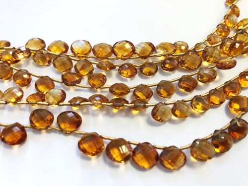 Citrine Faceted HEART SHAPE (MULTIPLE SIZES)