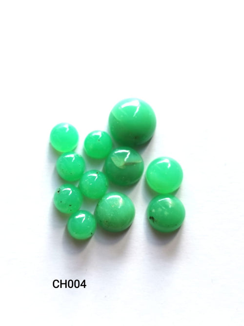 Chrysoprase Cabochons Round CH004