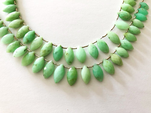 Chrysoprase Faceted Marquee BRIOLETTES (MULTIPLE SIZES)