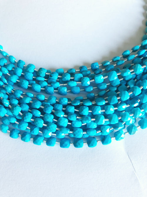 Turquoise 4MM Faceted Checker (MULTIPLE SIZES)