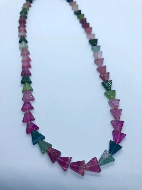 Watermelon Tourmaline Factaed Arrow shape beads 7-8 MM