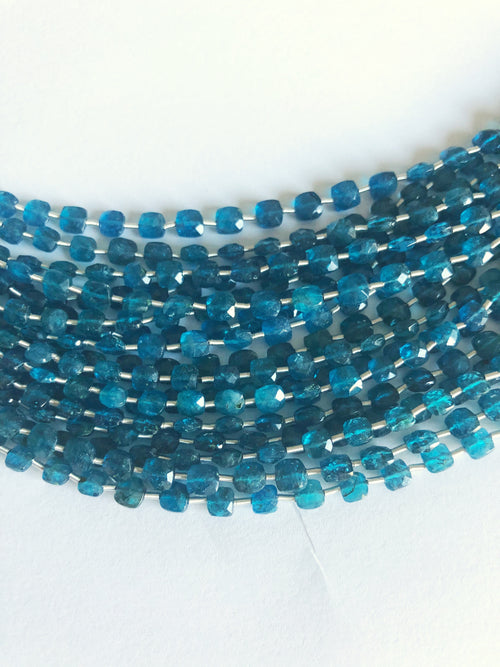 Green Apatite 4MM  Faceted Checker (MULTIPLE SIZES)